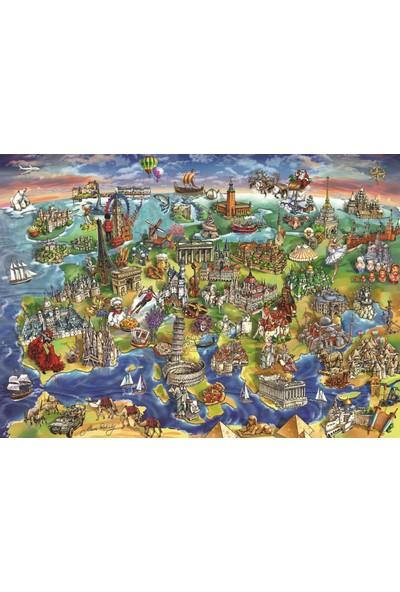Anatolian 1500 Parça Avrupa Haritası Puzzle