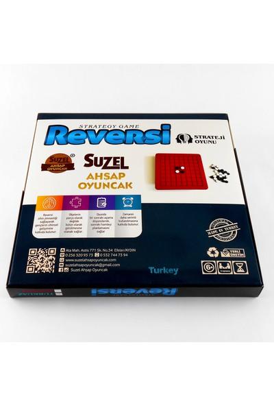 Suzel Ahşap Reversi Strateji Oyunu Eğitici Akıl ve Zeka Oyunu