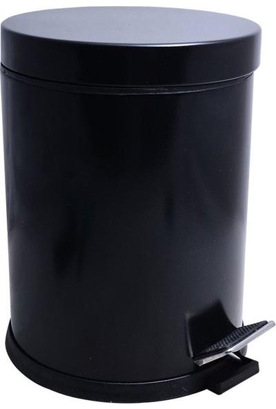 Sellin Kaplama Pedallı Çöp Kovası Siyah