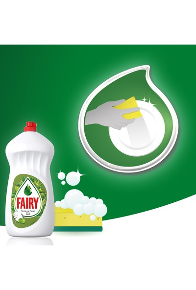 Fairy 2700 ml ( 2 x 1350 ml) Sıvı Bulaşık Deterjanı Elma Fırsat Paketi