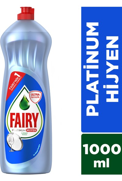 Fairy Platinum Hijyen 1000 ml Sıvı Bulaşık Deterjan