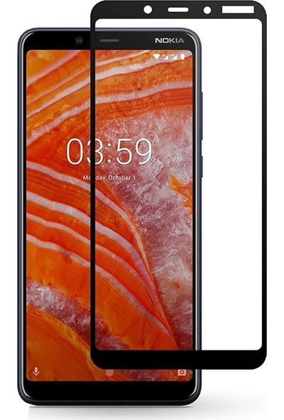 Case Street Nokia 3.1 Plus Kılıf Premier Silikon + Full Kapatan Fiber Nano Siyah
