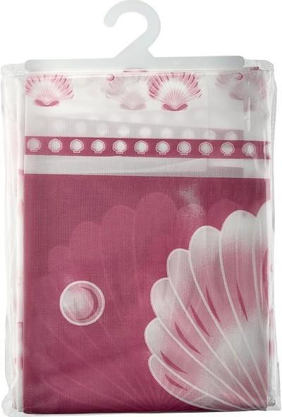 Buffer Su Geçirmez Polyester Banyo Perdesi Dekoratif Desenli Duş Perdesi