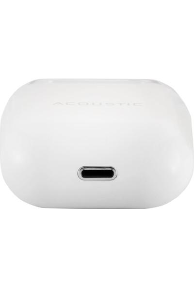 MF Product Acoustic 0464 Kulak İçi Kablosuz Bluetooth Bt 5.0 Tws Kulaklık Beyaz