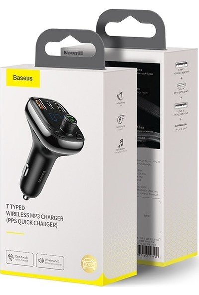 Baseus Baseus Bluetooth FM Transmitter Araç Şarj Cihazı