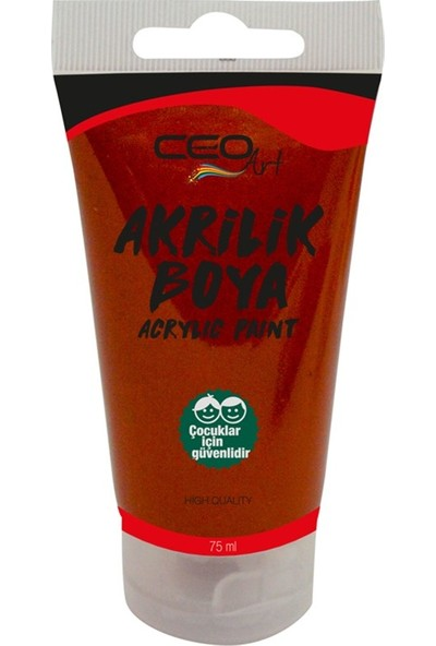Ceo Art Akrilik Boya 75 ml - Brown