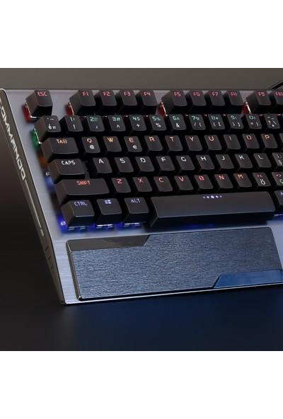 Rush Commando RK848 Full Mekanik RGB Işıklı Oyun Klavyesi