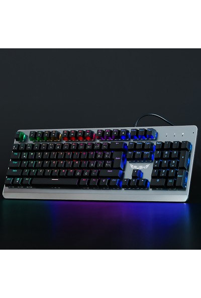 Rush Paladın RK910 Full Mekanik RGB Işıklı Oyun Klavyesi