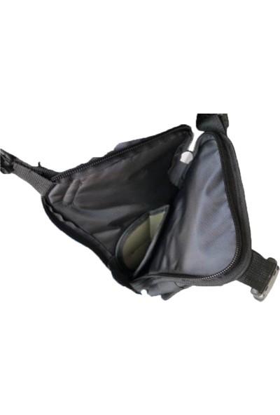 Armode Kılıflı Siyah Motosiklet Bacak Çantası