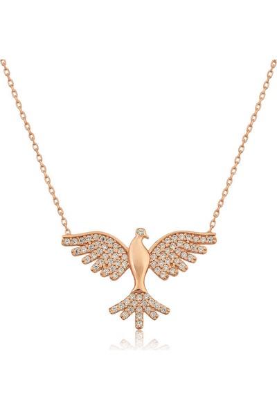 Armagano Gümüş Kuş Kolye