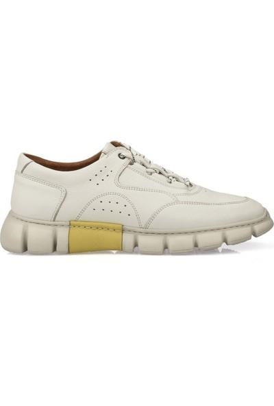 Ziya Erkek Deri Ayakkabı 101415 686156 Beyaz