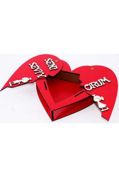 En Güzel Sepetim Sevgiliye Kalpli Açılan Seni Seviyorum Aşk Hediye Kutusu