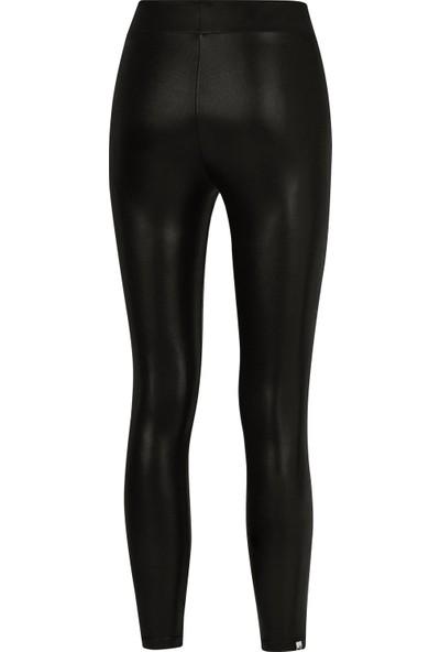 Puma Logo Siyah Parlak Kadın Tayt