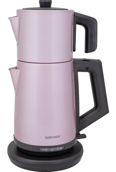 Goldmaster Akasya Çelik Çay Makinesi Pembe