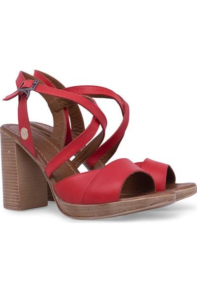 Via Dante Deri Topuklu Sandalet Kadın Sandalet 5273508Vd