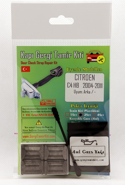 Barrer Citroen C4 Hb Arka Kapı Gergi (Limitör) Tamir Kiti 2 Kapı Set 2004-2011