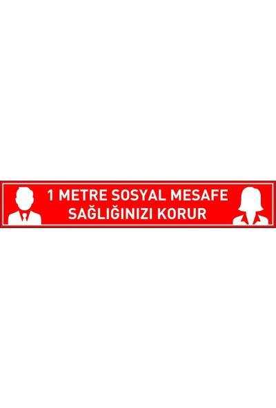 İlkiş Sosyal Mesafe Etiketi Laminasyonlu 10 x 50 cm