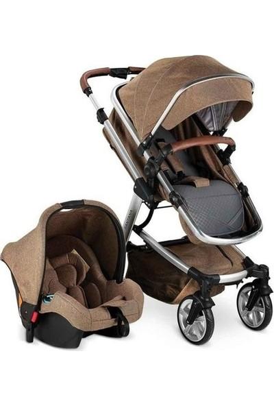 BabyHope Santana BH - 3025 Travel Sistem Bebek Arabası - Açık Kahverengi