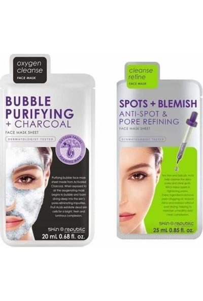 Skin Republic Bubble Maske 20 Ml+ Sıkılaştırıcı Maske 25 ml