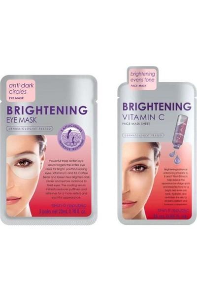 Skin Republic Brightening Vitamin C Maske 25 Ml+ Göz Maskesi 23 ml