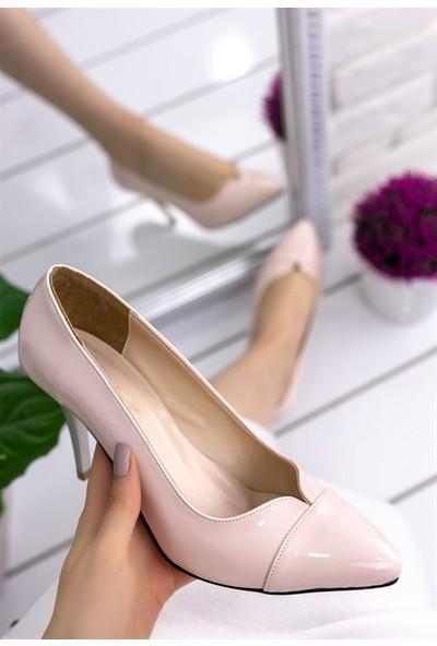 8Stil Marianne Pudra Rugan Stiletto Ayakkabı