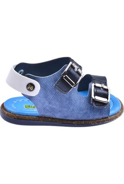 Kiko Şb 2330-2339 Erkek Çocuk Ilk Adım Sandalet Terlik Lacivert Mavi