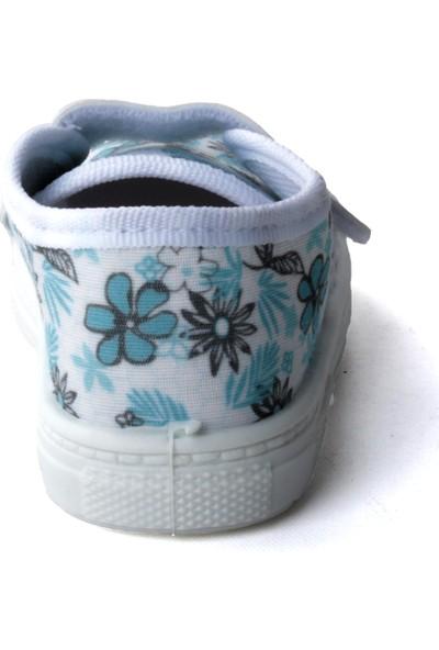 Sanbe 401 R 008 Anatomik Kız Çocuk Keten Ayakkabı Beyaz