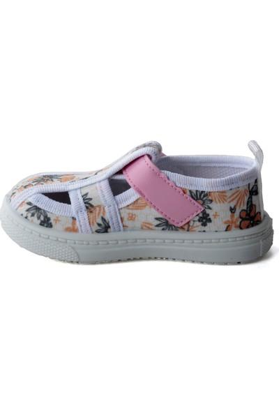 Sanbe 401 R 009 Anatomik Kız Çocuk Keten Ayakkabı Pembe