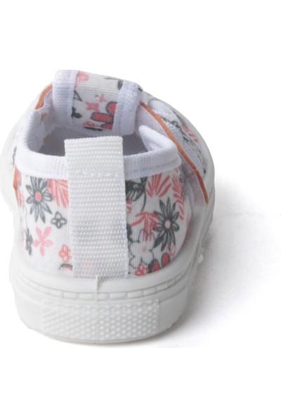 Sanbe 401 R 009 Anatomik Kız Çocuk Keten Ayakkabı Somon