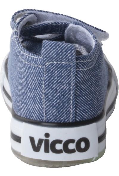 Vicco 925.20Y.150 Günlük Işıklı Kız/erkek Çocuk Keten Ayakkabı Mavi
