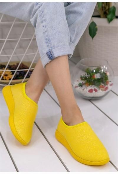 8Stil Botine Sarı Streç Spor Ayakkabı