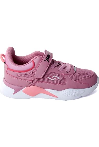 Jump 24931 Günlük Cırtlı Kız/erkek Çocuk Spor Ayakkabı Pudra