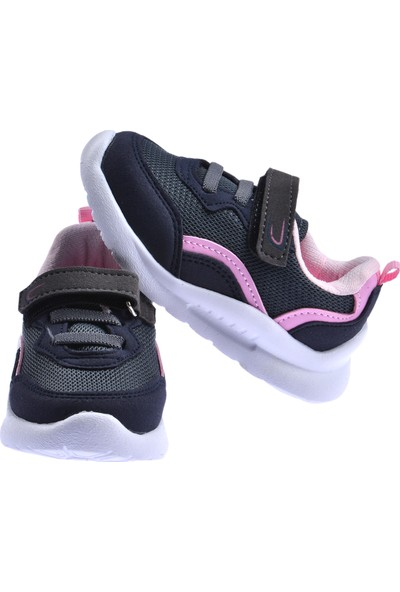 Ayakland S09 Günlük Fileli Cırtlı Kız/erkek Çocuk Spor Ayakkabı Pembe