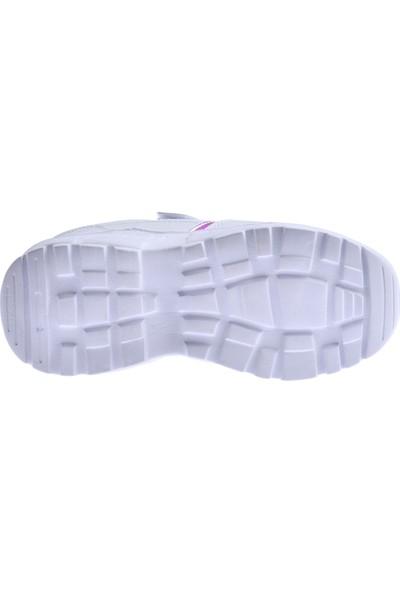 Ayakland S11 Günlük Fileli Cırtlı Kız/erkek Çocuk Spor Ayakkabı Beyaz