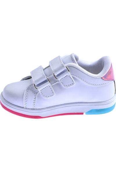 Ayakland S21 Günlük Cırtlı Kız/erkek Çocuk Spor Ayakkabı Beyaz