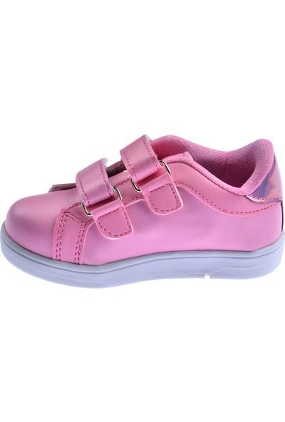Ayakland S21 Günlük Cırtlı Kız/erkek Çocuk Spor Ayakkabı Pudra