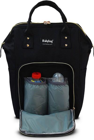 BabyBag Anne Bebek Bakım Sırt Çantası - Siyah