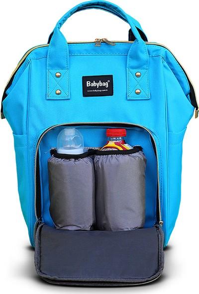 BabyBag Anne Bebek Bakım Sırt Çantası - Açık Mavi