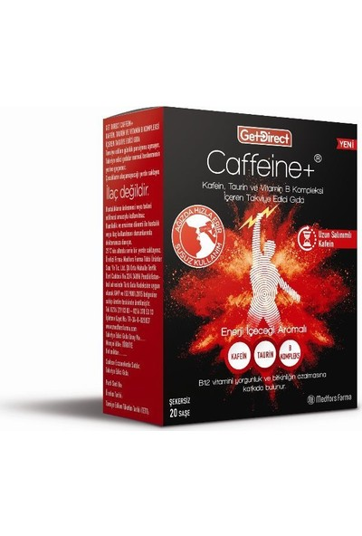 Medfors Farma Get Direct Caffeine Kafein Taurin Vit B Kompleks 20 Saşe