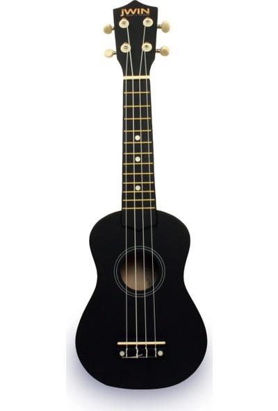 Jwin UK-2101 Soprano Ukulele Gitar - Siyah