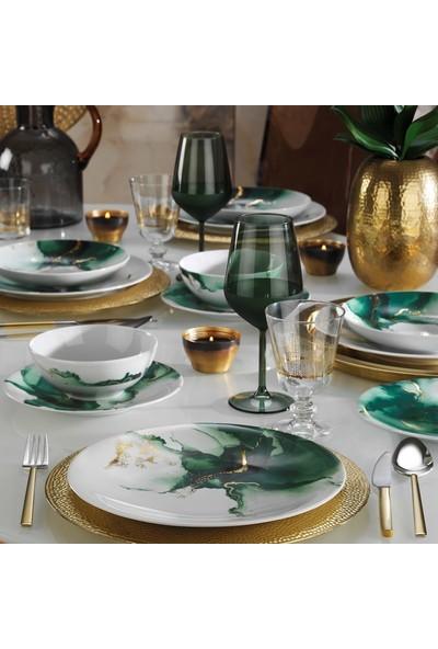 Kütahya Porselen Altın Varaklı 24 Parça 10714 Dekor Yemek Takımı