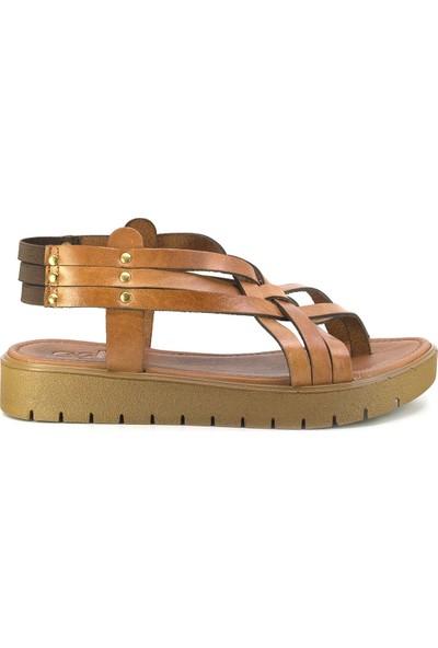 Eşle 20Y 305 Deri Kadın Sandalet Taba