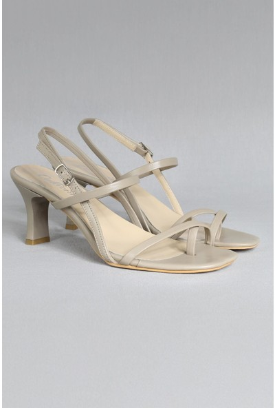 CZ London Kadın Topuklu Sandalet Bantlı Kemerli