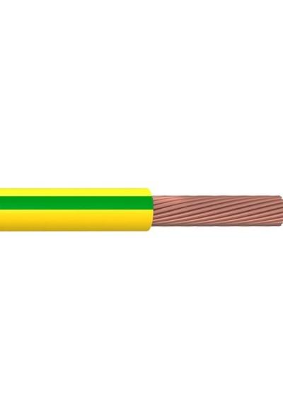 Hes 10 mm NYA Kablo 6 m Sarı Yeşil Tam Bakır H07V-U