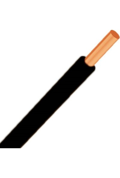 Hes 6 mm NYA Kablo 14 m Siyah Tam Bakır H07V-U