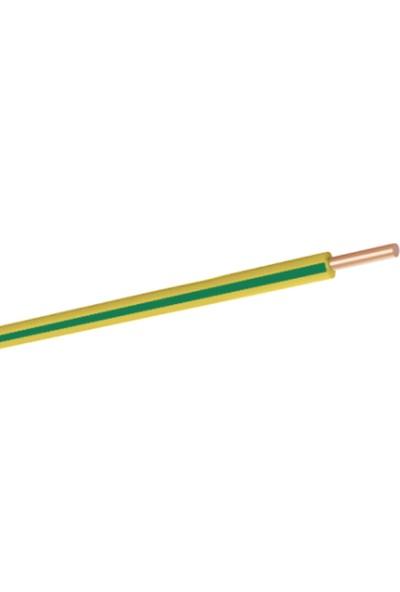 Hes 6 mm NYA Kablo 15 m Sarı Yeşil Tam Bakır H07V-U