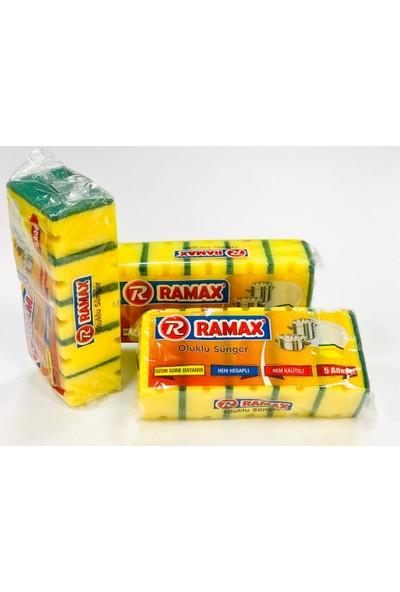 Ramax 5li Oluklu Bulaşık Süngeri