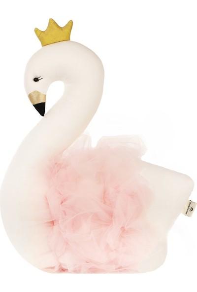 Dona De Miel Nancy Pink Kuğu Dekoratif Yastık