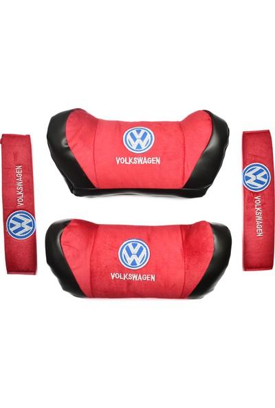 TrendGaraj Volkswagen Kırmızı Boyun Yastığı Seti