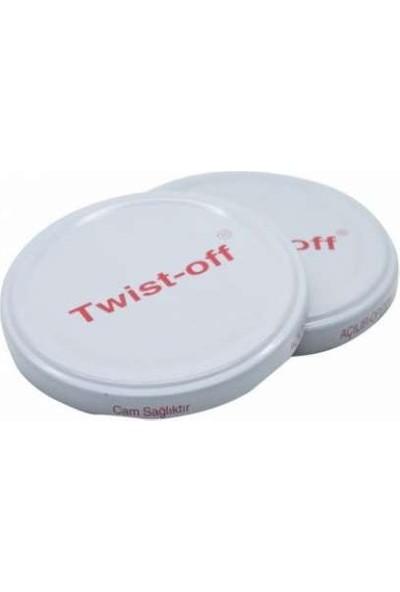 Rastaş Twist-Off 50 Adet Beyaz Metal Konserve Kavanoz Kapağı